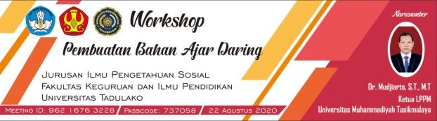 .Workshop Pembuatan Bahan Ajar Daring Jurusan PIPS FKIP Universitas Tadulako